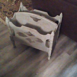 Other - Vintage Wood Refurbished Magazine Holder Rack